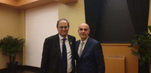Albert Cortada amb el president Quim Torra.